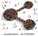 large and diverse group of... | Shutterstock . vector #417250504