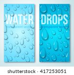 vertical banners set with water ... | Shutterstock .eps vector #417253051