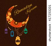 happy ramadan kareem  greeting... | Shutterstock .eps vector #417253201