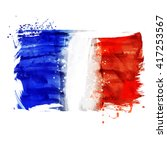 france hand painted national... | Shutterstock .eps vector #417253567