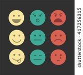 feedback emoji concept icon set ... | Shutterstock .eps vector #417256315