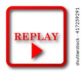 replay icon. internet button on ... | Shutterstock . vector #417259291