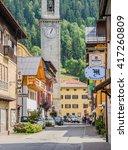 pinzolo  a small  town in... | Shutterstock . vector #417260809