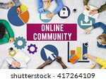online community connection... | Shutterstock . vector #417264109