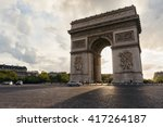 triumphal arch in paris city at ... | Shutterstock . vector #417264187
