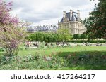 louvre palace and tuileries... | Shutterstock . vector #417264217