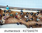 top view of many asian people... | Shutterstock . vector #417264274