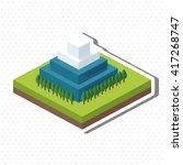 isometric design. nature icon.... | Shutterstock .eps vector #417268747
