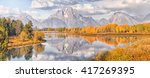 oxbow bend  teton national park | Shutterstock . vector #417269395