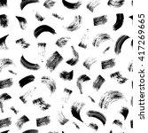 brushstroke seamless pattern on ... | Shutterstock .eps vector #417269665