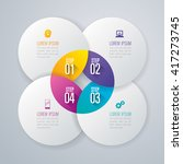 infographic design vector and... | Shutterstock .eps vector #417273745