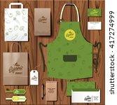 vector organic market corporate ...   Shutterstock .eps vector #417274999