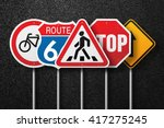 road signs of the different... | Shutterstock . vector #417275245