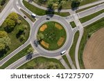 aerial view of roundabout in... | Shutterstock . vector #417275707