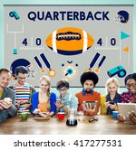 play quarterback rugby american ... | Shutterstock . vector #417277531
