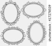 set of oval vintage frames ... | Shutterstock .eps vector #417278539