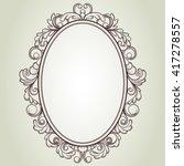 vector oval vintage frame ... | Shutterstock .eps vector #417278557