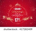 grand opening horizontal banner.... | Shutterstock .eps vector #417282409