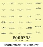 borders and dividers decorative ... | Shutterstock .eps vector #417286699