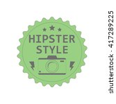 label of the hipster style...   Shutterstock .eps vector #417289225
