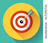 target marketing icon. target... | Shutterstock .eps vector #417290731
