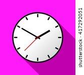 clock icon  vector illustration ...   Shutterstock .eps vector #417292051