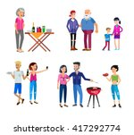 vector character people on... | Shutterstock .eps vector #417292774