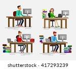 vector detailed character... | Shutterstock .eps vector #417293239