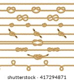 rope knots collection.... | Shutterstock .eps vector #417294871