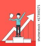 successful development of... | Shutterstock .eps vector #417300271