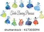 twelve dancing princesses.... | Shutterstock .eps vector #417303094