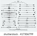 decorative elements | Shutterstock .eps vector #417306799
