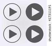 play button icon . vector... | Shutterstock .eps vector #417311191