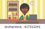 woman using laptop for... | Shutterstock .eps vector #417312241