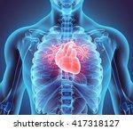 3d illustration of heart   part ... | Shutterstock . vector #417318127