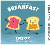vintage toast poster design...   Shutterstock .eps vector #417319855