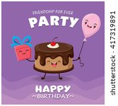 vintage cake poster design with ... | Shutterstock .eps vector #417319891