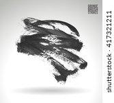 brush stroke and texture.... | Shutterstock .eps vector #417321211