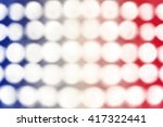 Abstract patriotic red white and blue bokeh lights background