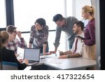 startup business  young... | Shutterstock . vector #417322654