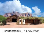 old wild west town with... | Shutterstock . vector #417327934