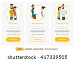 business characters set.... | Shutterstock .eps vector #417339505