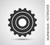 gear  cog icon   vector