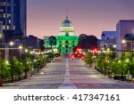 montgomery  alabama  usa with... | Shutterstock . vector #417347161