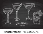 set of hand drawn alcoholic... | Shutterstock .eps vector #417350071
