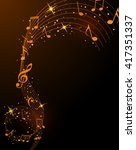 abstract musical background... | Shutterstock .eps vector #417351337