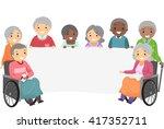 stickman illustration of senior ... | Shutterstock .eps vector #417352711