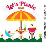 picnic illustration template | Shutterstock .eps vector #417354049