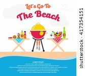 picnic illustration template | Shutterstock .eps vector #417354151