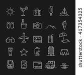 icon travel. icon summer.... | Shutterstock .eps vector #417354325